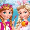 Anna And Elsa Easter Fun