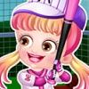 Baby Hazel Baseball Player