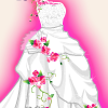 Bride Cinderella And Flower Girl