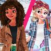 Elsa and Moana Exchange Students